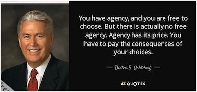agency quote lds