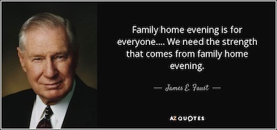 Family Home Evening Quote