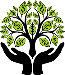 Finance tree with hands