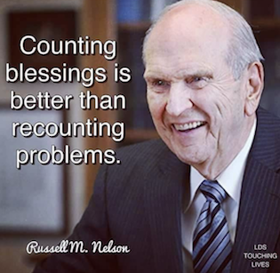 President Nelson quote counting blessings