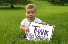 baby thank you sign