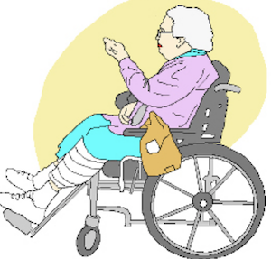 lady in wheelchair